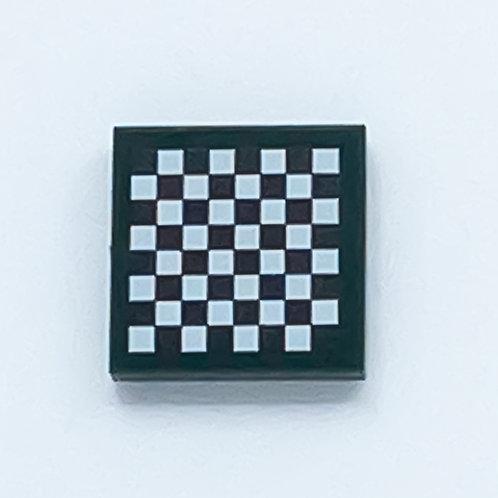 Chess board (dark green) - printed tile