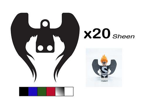 """Pack of 20 Angel Wings - """"Sheen"""""""
