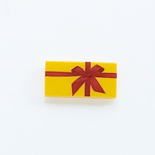 Present with bow (yellow) - printed tile
