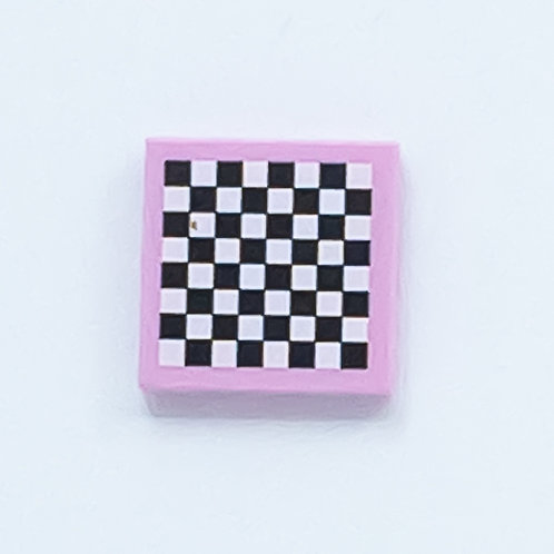 Chess board (bright pink) - printed tile