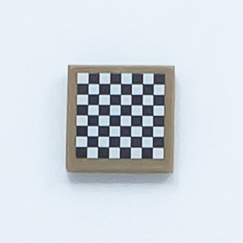 Chess board (dark tan) - printed tile