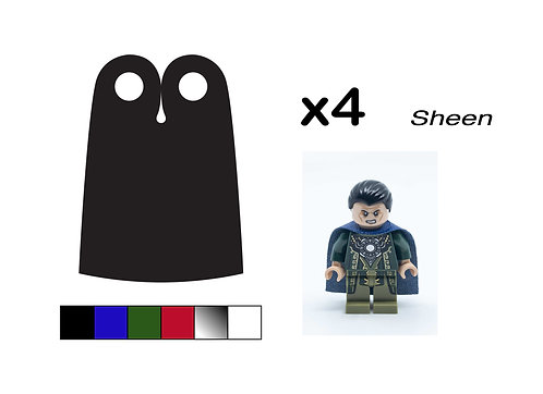 """Pack of 4 Narrow Capes - """"Sheen"""""""