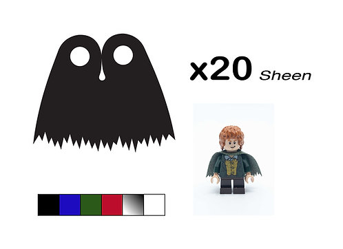 """Pack of 20 Ragged Capes - """"Sheen"""""""