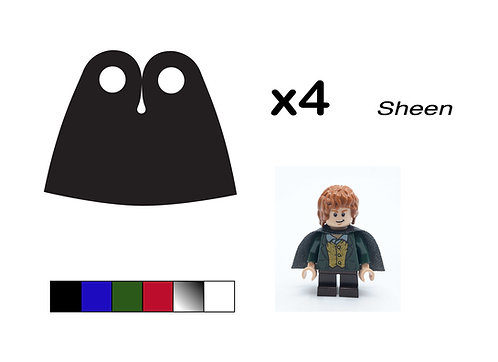 """Pack of 4 Short Capes - """"Sheen"""""""