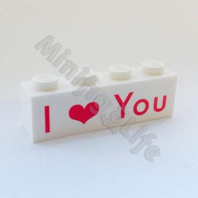 I ❤️ You  - printed brick