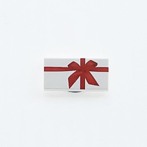 Present with bow (white) - printed tile