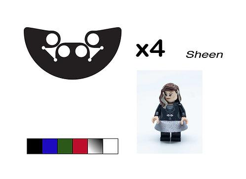 "Pack of 4 Miniskirts - ""Sheen"""