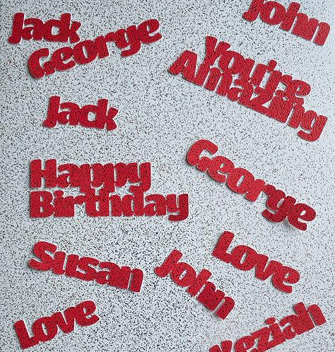 Personalised Greeting Card Glitter Confetti