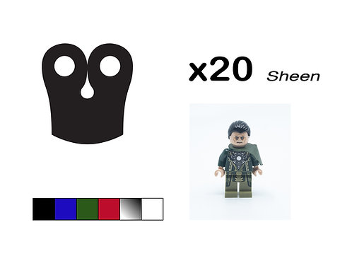 """Pack of 20 Square Pauldrons - """"Sheen"""""""