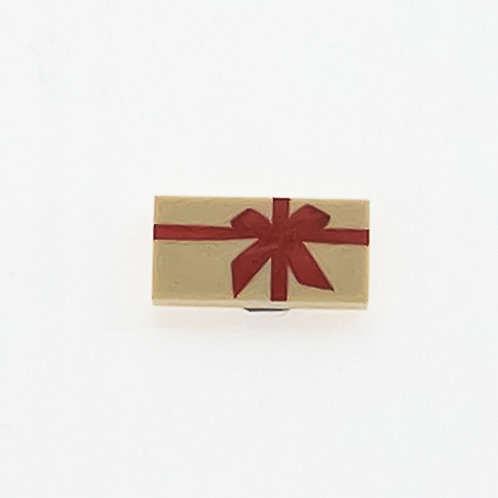 Present with bow (tan) - printed tile