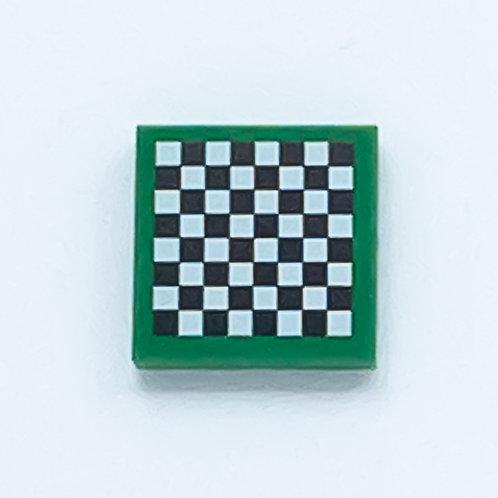 Chess board (green) - printed tile