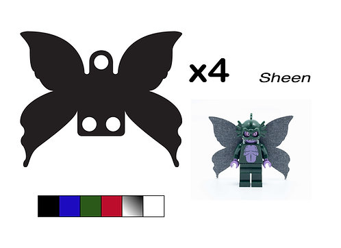 """Pack of 4 Fairy Wings - """"Sheen"""""""