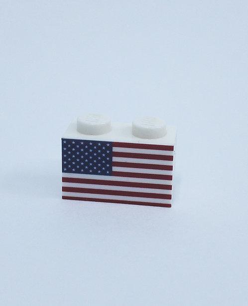 Flag of USA - printed brick