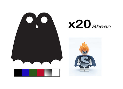 """Pack of 20 Wave Capes - """"Sheen"""""""