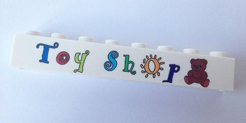 Toy shop  - printed brick