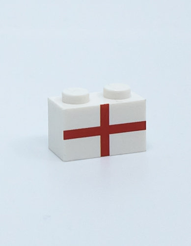 Flag of England - printed brick