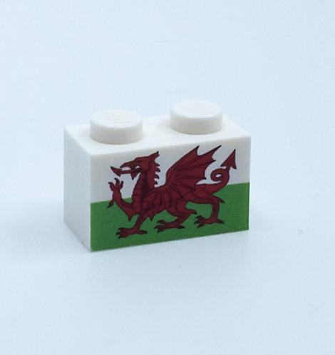 Flag of Wales - printed brick