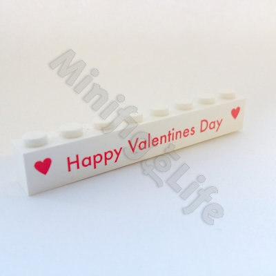 Happy Valentines Day  - printed brick