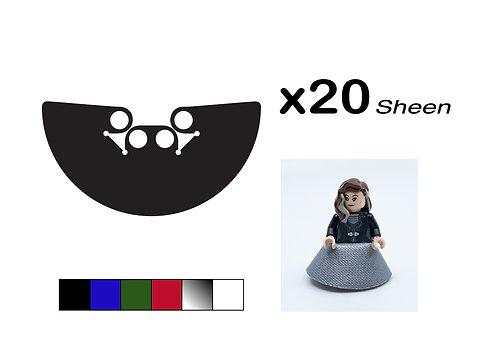 "Pack of 20 Long Skirts - ""Sheen"""