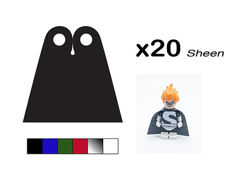 """Pack of 20 Straight Capes - """"Sheen"""""""