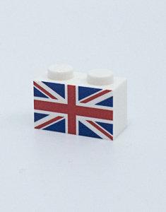 Flag of United Kingdom - printed brick