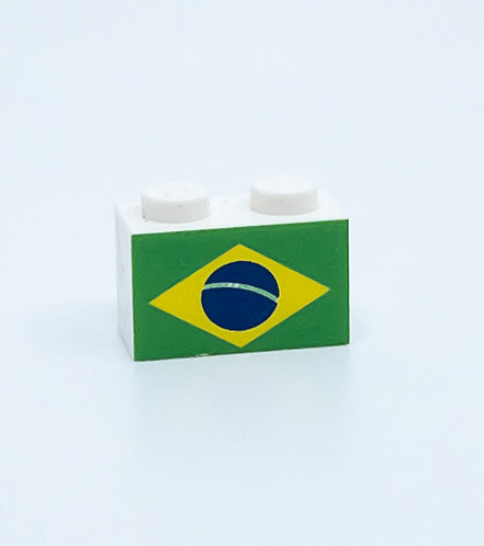 Flag of Brazil - printed brick