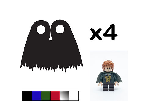 Pack of 4 Ragged Capes - DURABLE