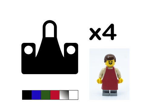 Pack of 4 Aprons - DURABLE
