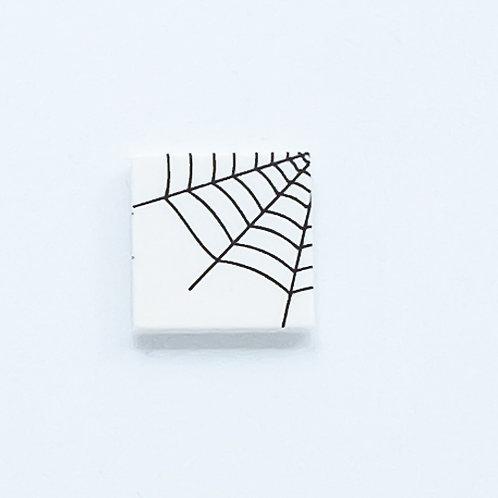 Spider web corner (white) - printed tile