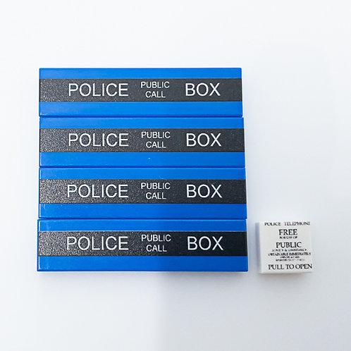 Police public call box - printed tile set
