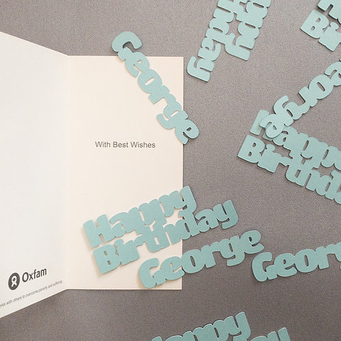 Personalised Greeting Card Pearlescent Confetti