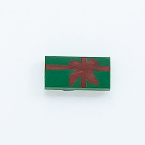 Present with bow (green) - printed tile