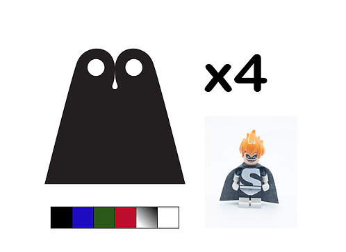 Pack of 4 Straight Capes - DURABLE (Single Colour)