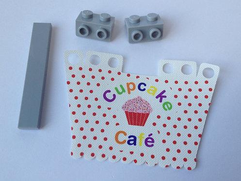 """Cupcake cafe shop awning - """"Sheen"""""""