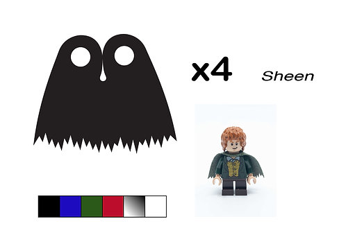 """Pack of 4 Ragged Capes - """"Sheen"""""""