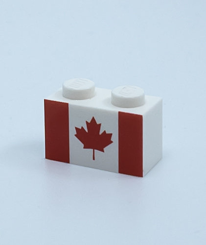 Flag of Canada - printed brick