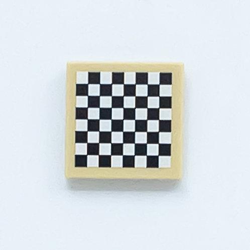 Chess board (tan) - printed tile