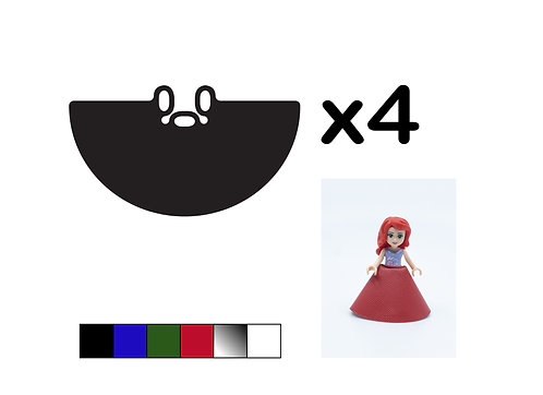 Pack of 4 Mini doll Gowns - DURABLE