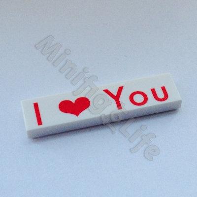 I ❤️ You  - printed tile