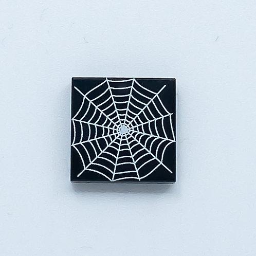 Spider web (black) - printed tile