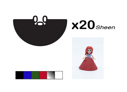 """Pack of 20 Mini-doll Gowns - """"Sheen"""""""