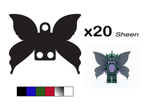 """Pack of 20 Fairy Wings - """"Sheen"""""""