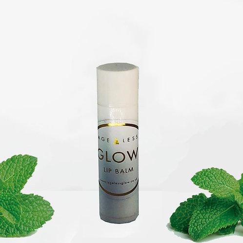 Peppermint Lip Glow - White/Black