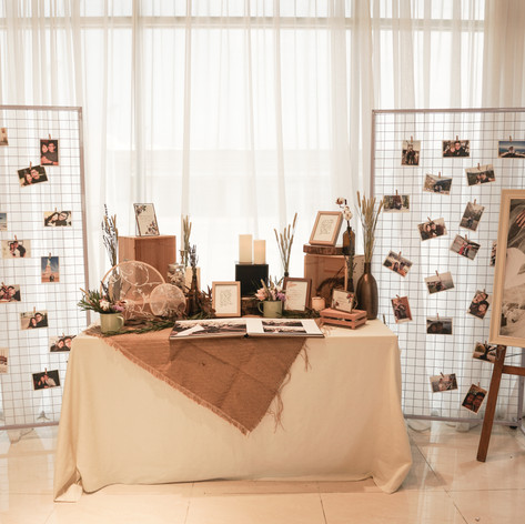 Photo Album Table Styling