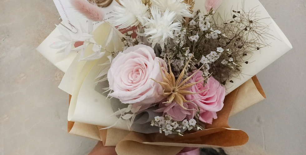 Blush Pink Floral Cone