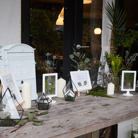 Reception Table Styling