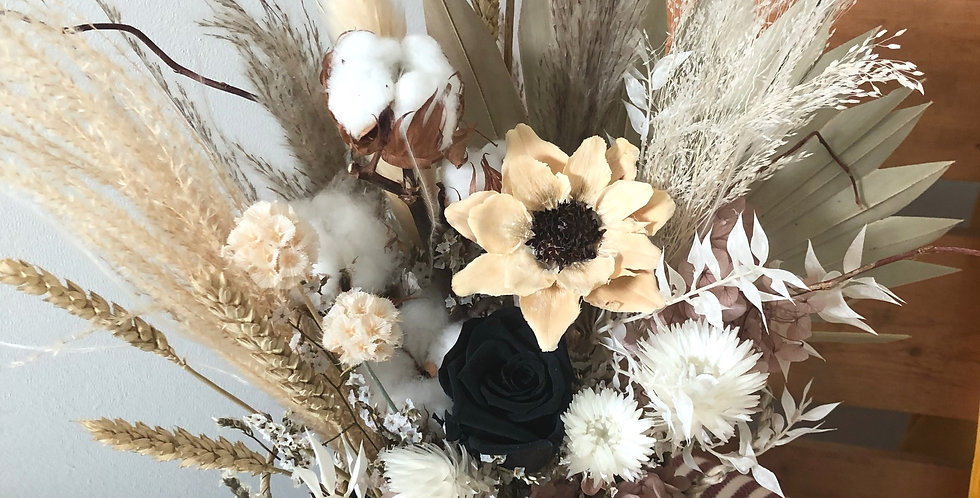 Classic Black Flower Basket