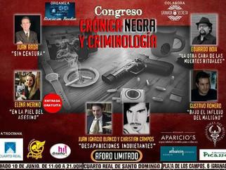 """""""Congreso Crónica Negra y Criminología 2017"""""""