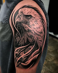 eagle, flag tattoo