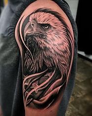 eagle, flag tattoo